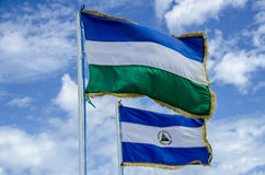 Flag of Nicaragua Stock Images