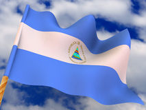 Flag. Nicaragua Royalty Free Stock Image