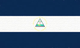 Flag of Nicaragua Wall Royalty Free Stock Images