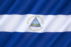 Flag of Nicaragua Royalty Free Stock Images