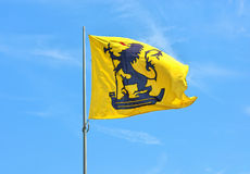 Flag of Nieuwpoort in province West Flanders Stock Photos