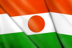 Flag of Niger. This is an illustration of folded flag Royalty Free Stock Image