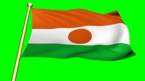 Flag of  niger animation royalty free illustration