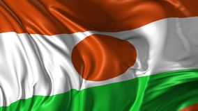Flag of Niger stock video footage