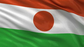 Flag of Niger seamless loop Royalty Free Stock Photography