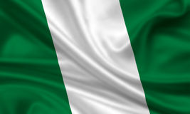 Flag of Nigeria. 3d rendered flag oif nigeria Stock Photos