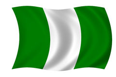 Flag of nigeria stock image