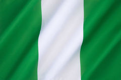 Flag of Nigeria. The Flag of Nigeria - designed in 1959 and officially adopted on October 1st 1960 royalty free stock photos