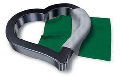 Flag of nigeria and heart symbol Stock Photos