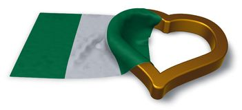 Flag of nigeria and heart symbol Royalty Free Stock Photo