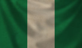 Flag of Nigeria. Royalty Free Stock Photos