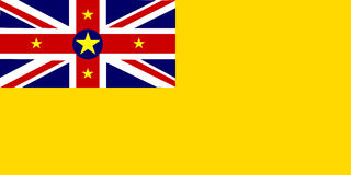 Flag of Niue Stock Photo