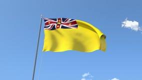 Flag of Niue royalty free illustration