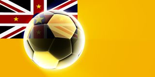 Flag of Niue soccer Stock Images