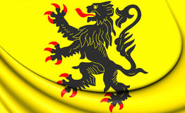 Flag of Nord-Pas-de-Calais, France. Royalty Free Stock Images