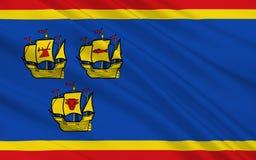 Flag of Nordfriesland in Schleswig-Holstein, Germany. Flag of Nordfriesland is a district in Schleswig-Holstein, Germany royalty free stock images