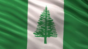 Flag of Norfolk Island seamless loop Royalty Free Stock Image