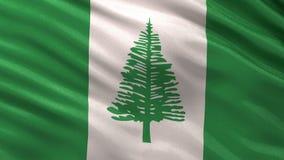 Flag of Norfolk Island seamless loop stock video footage
