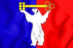 Flag of Norilsk Krasnoyarsk Krai, Russia. 3D Illustration. 3D Flag of Norilsk Krasnoyarsk Krai, Russia. 3D Illustration Stock Photo