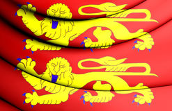 Flag of Normandy, France. Royalty Free Stock Image