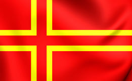 Flag of Normandy, France. Stock Photo