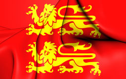 Flag of Normandy, France. Royalty Free Stock Images