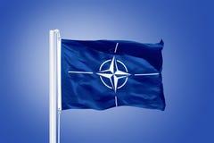 The flag of the North Atlantic Treaty Organization NATO Stock Image
