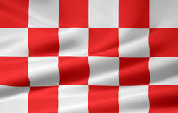 Flag of North Brabant - Netherlands. Very large flag of the dutch region of North Brabant Royalty Free Stock Photos