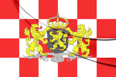 Flag of North Brabant Province, Netherlands. Royalty Free Stock Images