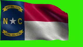 Flag of North Carolina, NC, Raleigh, Charlotte, November 21 1789, State of The United States of America, USA state - LOOP stock video footage
