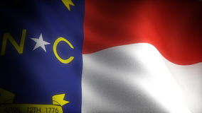 Flag of North Carolina Royalty Free Stock Photography