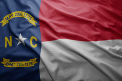 Flag of North Carolina state Stock Images