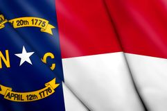 Flag of North Carolina (USA). This is an illustration of folded flag Stock Images