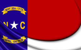 Flag of North Carolina, USA. Stock Images