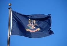 Flag of North Dakota. State Flag of North Dakota waiving Stock Images