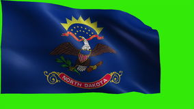 Flag of North Dakota, ND, Bismarck, Fargo, November 2 1889, State of The United States of America, USA state - LOOP stock video footage