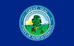 Flag of North Dakota, USA. Flag of North Dakota is the 39th state of the United States Stock Photography