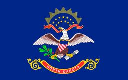 Flag of North Dakota, USA. Flag of North Dakota is the 39th state of the United States stock images