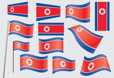Flag of North Korea Royalty Free Stock Photos