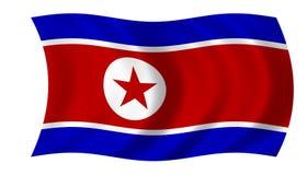 Flag of north korea. Waving flag of north korea stock illustration