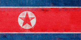 Flag of North Korea Grunge. Royalty Free Stock Images