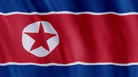 Flag of North Korea royalty free illustration