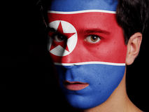 Flag of North Korea Royalty Free Stock Photo
