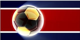 Flag of North Korea soccer Royalty Free Stock Photo