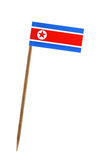 Flag of North Korea. Tooth pick wit a small paper flag of North Korea Stock Photo