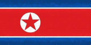 Flag of North Korea Wall. Royalty Free Stock Photography
