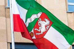 Flag of North Rhine Westphalia germany. The flag of North Rhine Westphalia germany royalty free stock images