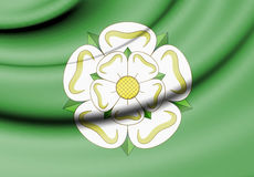 Flag of North Yorkshire, England. 3d Rendered Flag of North Yorkshire, England Royalty Free Stock Image