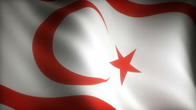 Flag of Northern Cyprus stock illustration