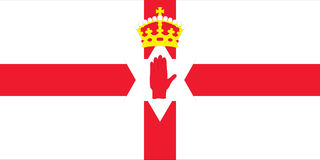 Flag of Northern Ireland. Vector illustration Royalty Free Stock Photos